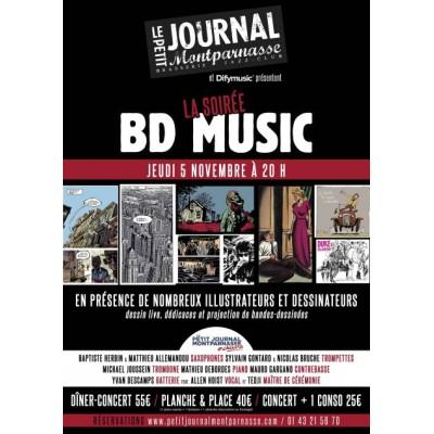 La Soirée Bd Music Avec Le Pjm Orchestra | Jeudi 5 Novembre 2015 - 20:00 @  Petit Journal Montparnasse | Concert | Paris Jazz Club