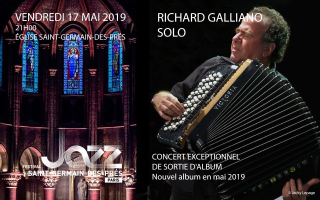 Richard Galliano accordion recital - A rare and fabulous tête-à-tête between the accordion and its maestro - Photo : Jacky Lepage