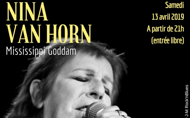 Nina Van Horn - Mississippi Goddam - Photo : JM Rock'n'Blues