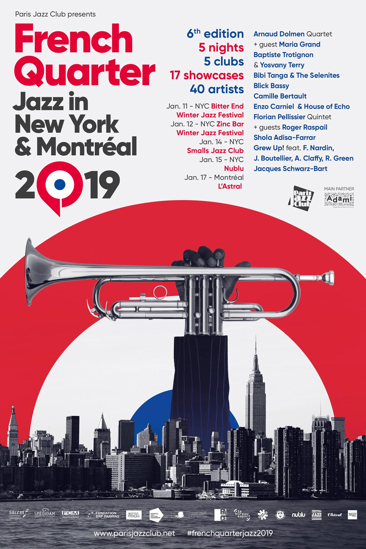French Quarter, Jazz, New York, NYC, Montréal, Winter Jazz Festival, Smalls, Nublu, Astral, Adami, Showcase, Music