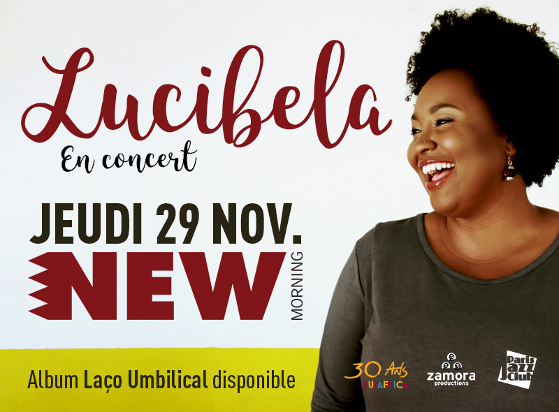 Lucibela, New Morning, Zamora prod, 29 novembre, Jazz, Cap Vert, Chanteuse,