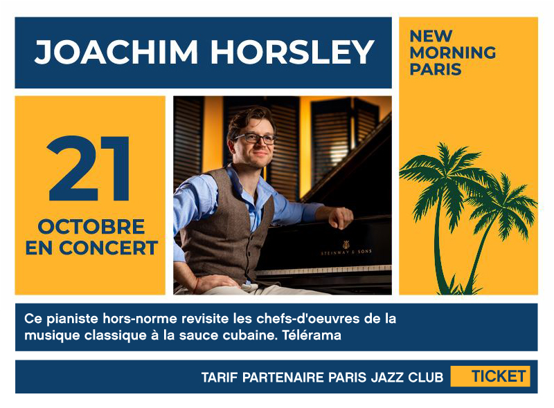 Joachim Horsley, New Morning, Piano, Masterclass, Jazz,