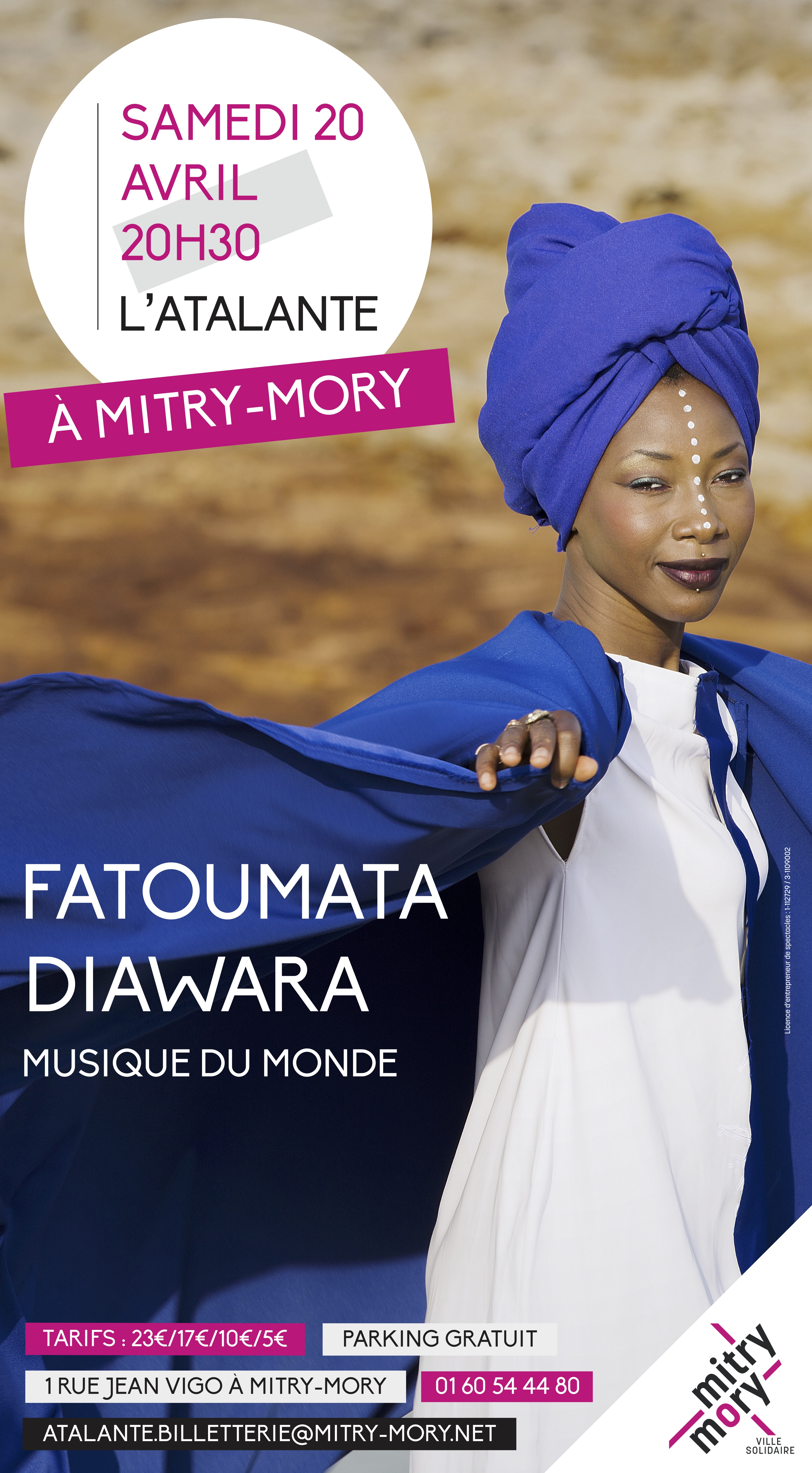 Fatoumata Diawara, Atalante, Mitry Mory, Musique du Monde, Paris Jazz Club,