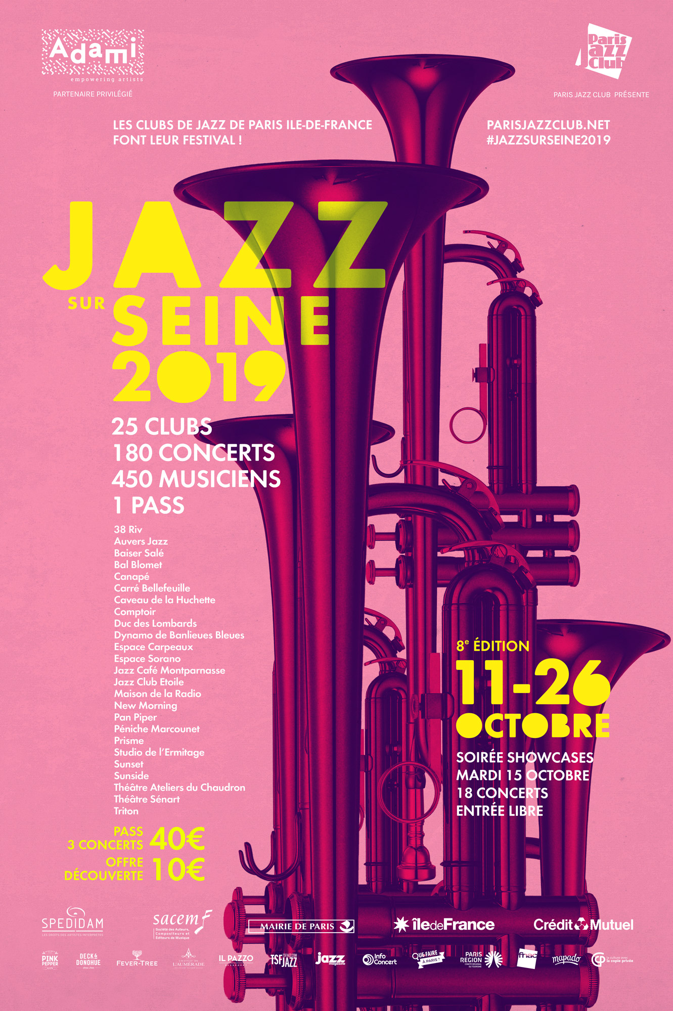 Jazz sur Seine, Paris Jazz Club, Clubs de Jazz, Tous les Jazz, Paris